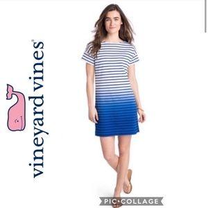 Vineyard Vines Striped Ombré Shirt Dress